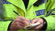 Staffordshire police were caught up in the manhunt for four suspects who stole thousands of pounds worth of jewellery