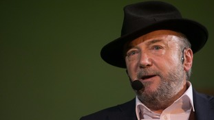 George Galloway 'glitter bombed' during university speech