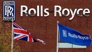 The production line at the Rolls-Royce headquarters in Goodwood, West Sussex.