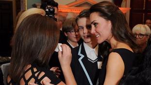 Duchess of Cambridge hugs tearful Preston mum at mental health awards ceremony