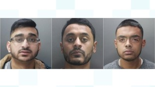 Three men sentenced to a total of almost 17 years in prison for a series of phone scams.