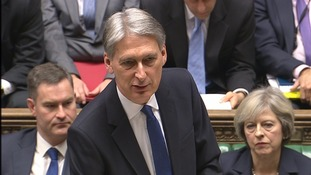 Chancellor Philip Hammond announced new borrowing figures.