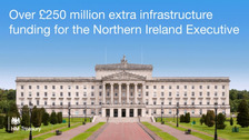 NI, Scotland and Wales are set for millions of pounds worth of infrastructure funding.