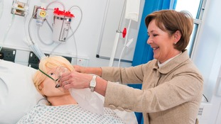 The Duchess of Northumbria with one of the new high tech training manikins