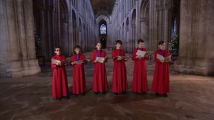 The current choristers of Ely Cathedral.