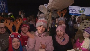 Truro explodes with colour for City of Lights festival