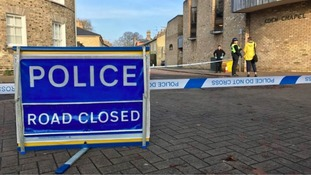 Officers were at the scene overnight, where a knife was recovered.