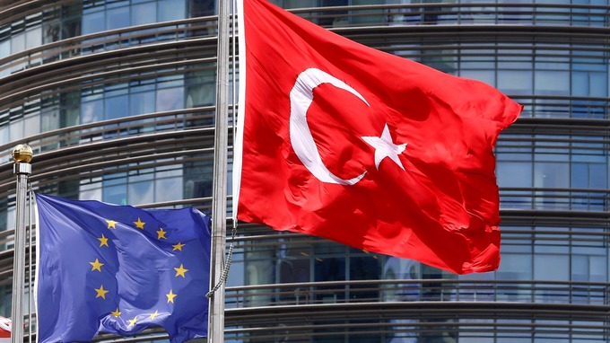 Turkey EU Flags