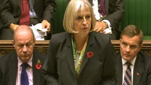 Theresa May in the House of Commons today