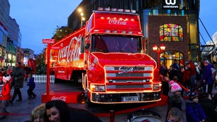 Coca-Cola truck arrives in Cardiff - drivers beware!