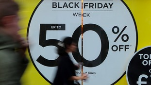 Black Friday sign in shop window