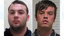 Jordan McNally (left) and Carl Tanner, who both absconded from HMP Kirkham