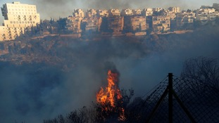 Fire rages in the northern city of Haifa