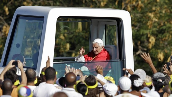 Crowds great the Pope in Havana, Cuba.