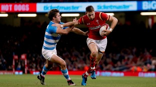 Liam Williams in action against Argentina