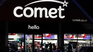 A shot of the comet store