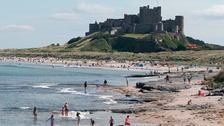 Bamburgh Castle, Northumberland.