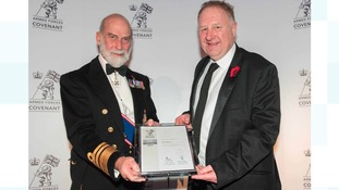 Prince Michael of Kent with Brian Manning.