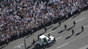 600,000 people turned out to see the Pope in Havana.