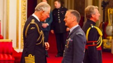 Prince Charles with Wing Commander Michael Formby