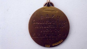 Challenge cup runners up medal