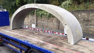 A new arch to the bridge was put in place in September