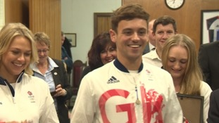 Diver Tom Daley gets recognition from his home city