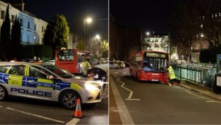 Woman hit by number 46 bus fighting for her life.