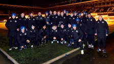 David Unsworth and squad at the sleepout