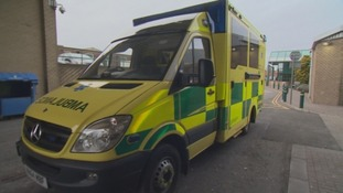 An ambulance outside Gateshead's Queen Elizabeth Hospital.