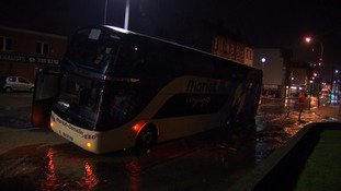 Coach passengers stranded after vehicle falls into sinkhole in Lewisham