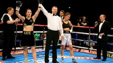 Katie Taylor won on her professional debut in London.