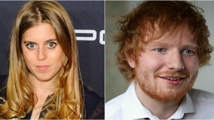 Princess Beatrice apparently sliced Ed Sheeran's face at the party.