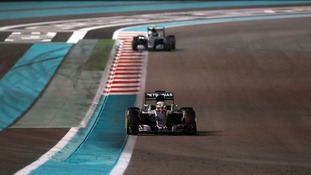 Hamilton tried desperately to pile the pressure on Rosberg.