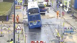 Thames Water working with police to remove coach from Lewisham sinkhole