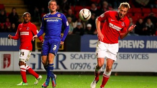 Charlton Athletic's Rob Hulse scores his sides fifth goal