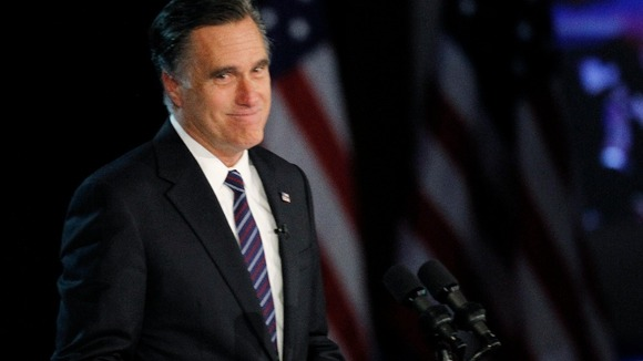 Republican presidential nominee Mitt Romney gives his concession speech