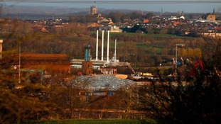 View of the steelworks in Rotherham