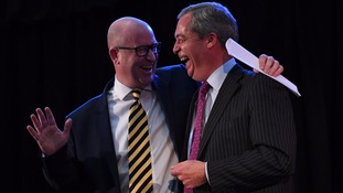 Farage hands the leadership mantle over to Nuttall.