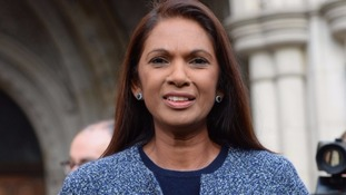 Gina Miller pictured outside the High Court