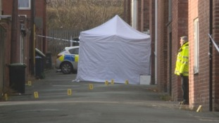 The scene where a body has been found in Chester-le-Street