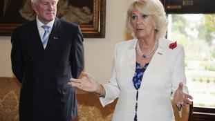 Camilla, Duchess of Cornwall, with Osteoporosis Australia Chairman John Hewson