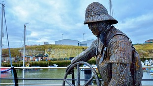 A new statue has been unveiled at Seaham Harbour Marina