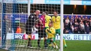 Martin Olsson was sent off against QPR.