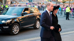 Royals attend memorial service for Duke of Westminster
