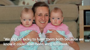 Family to celebrate first Christmas with miracle twins who had operation in womb