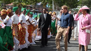 Prince Harry during his Caribbean tour