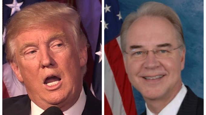 Donald Trump selects Tom Price as Secretary of Health and Human ...