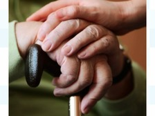 Library picture of elderly hands