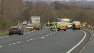 The accident on the A66.